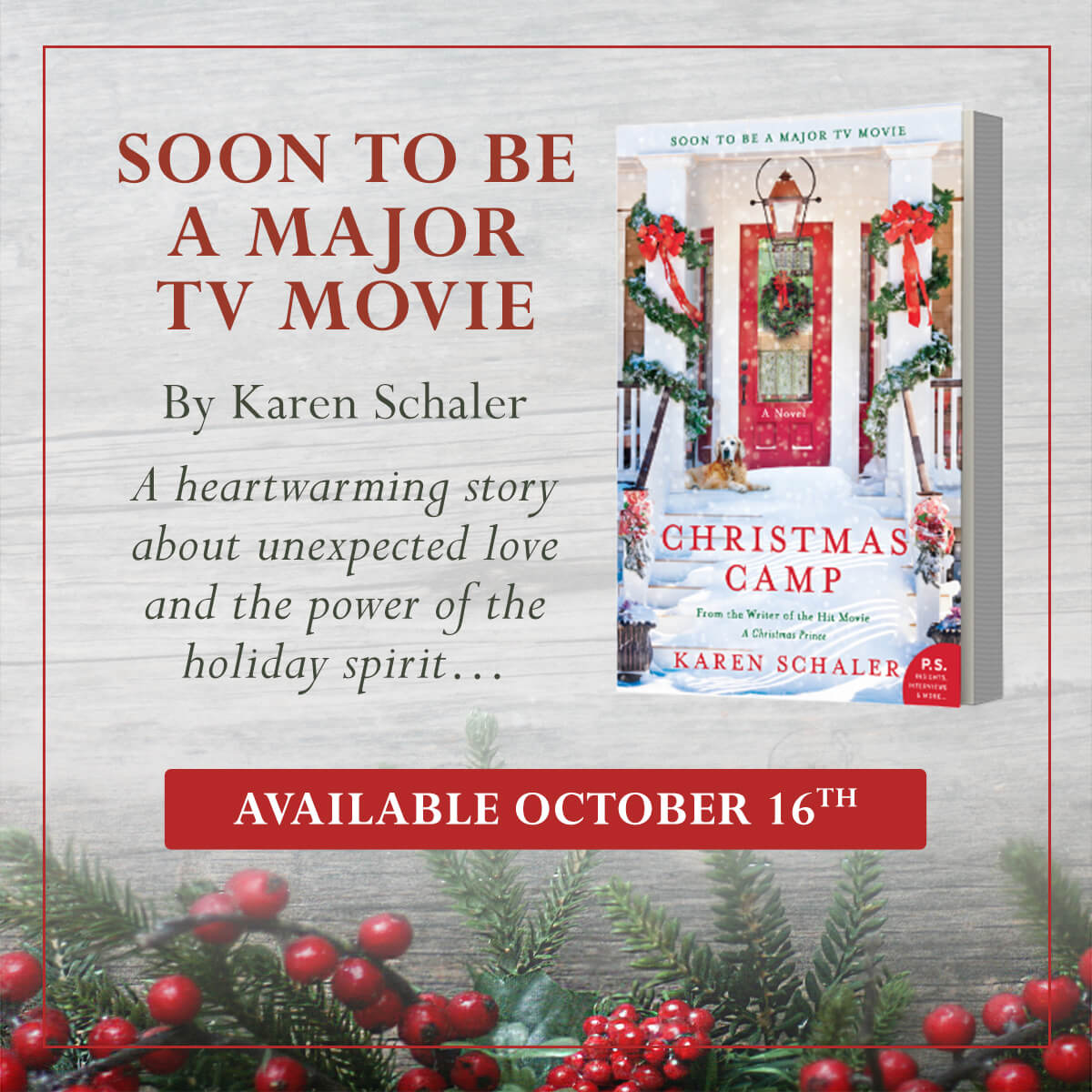 Announcing CHRISTMAS CAMP the Movie & Novel! | | Karen Schaler